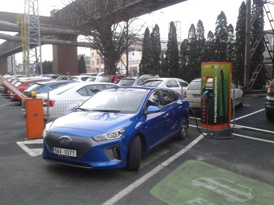 Rychlonabíjení elektromobilu Hyundai Ioniq Electric