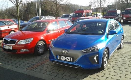 auto test elektromobilu Hyundai Ioniq Electric