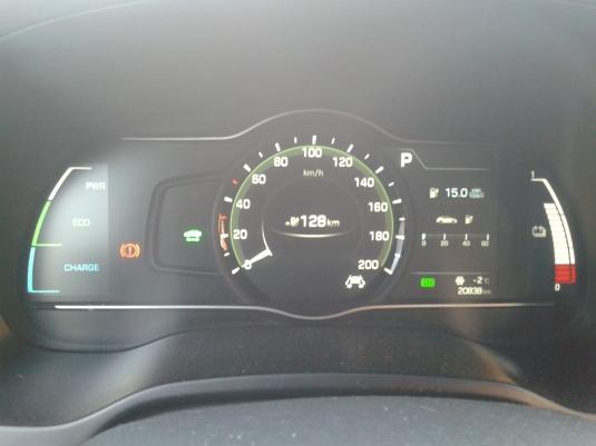Přístrojová deska elektromobilu Hyundai Ioniq Electric